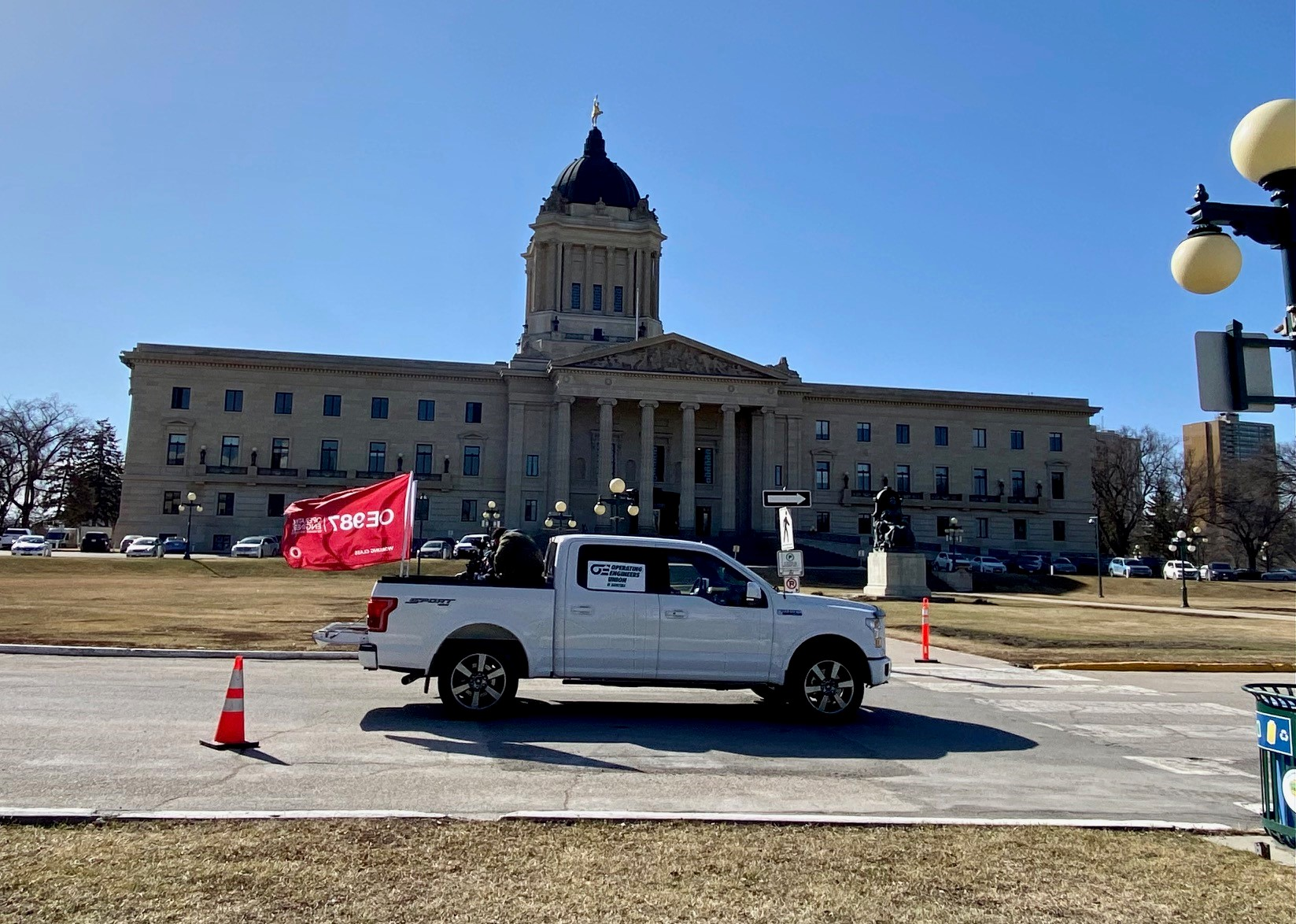 Image for Bill 55 Rally at the Manitoba Legislative Building