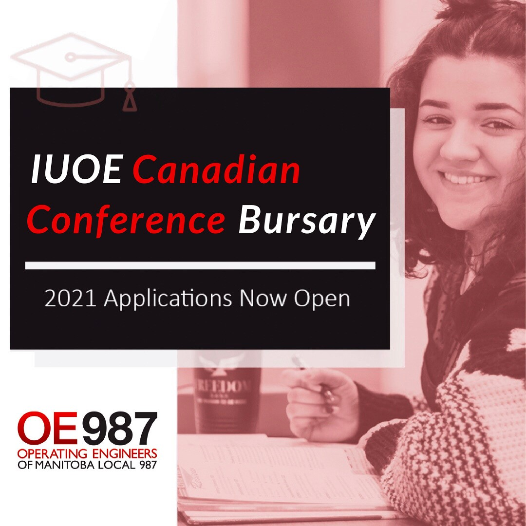 Image for IUOE Canadian Conference Bursary – Deadline August 1, 2021