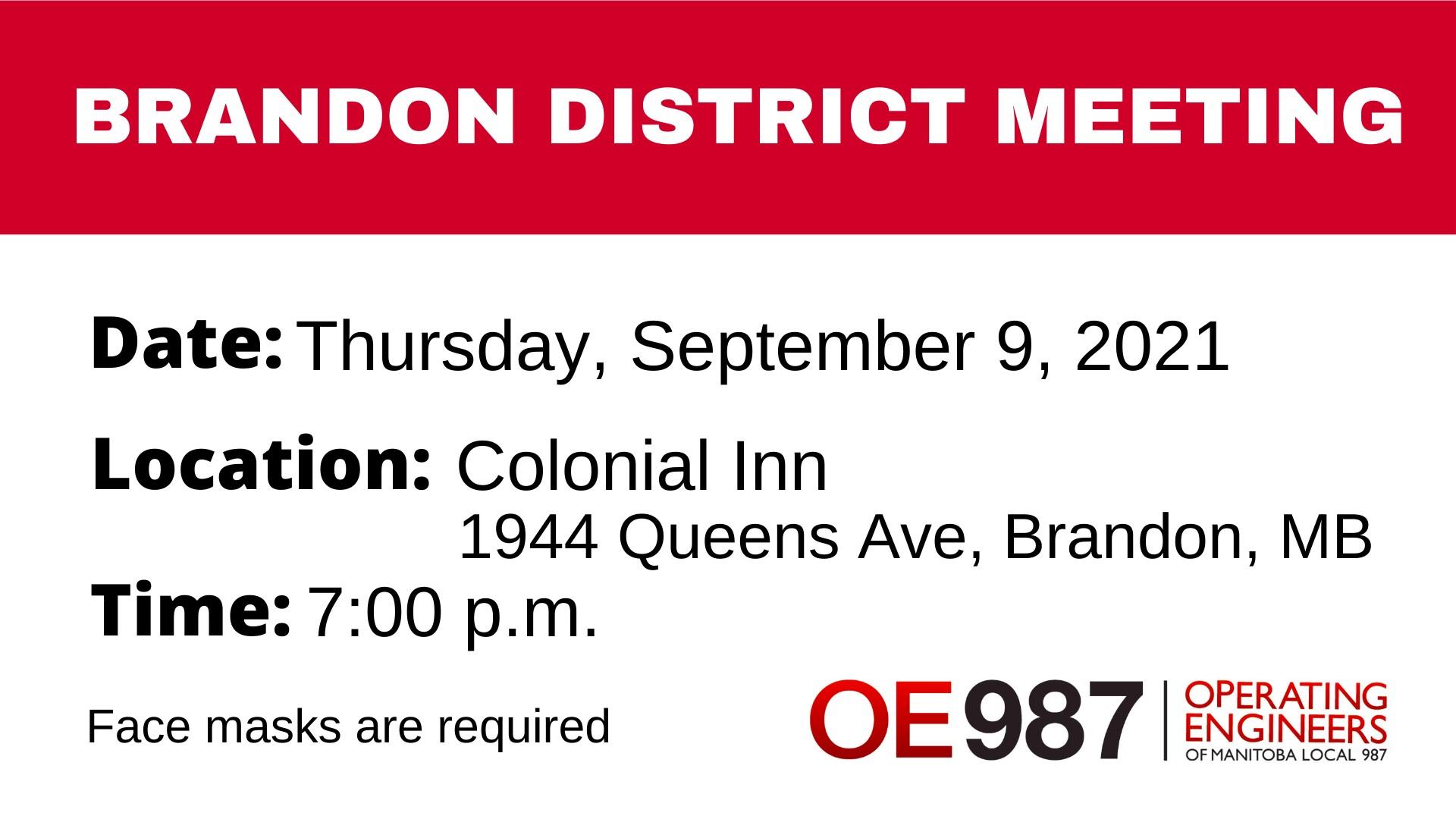 Image for OE987  Brandon District Meeting – September 9, 2021